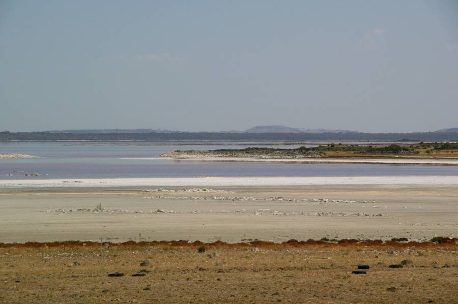View across Lake Corangamite to the West