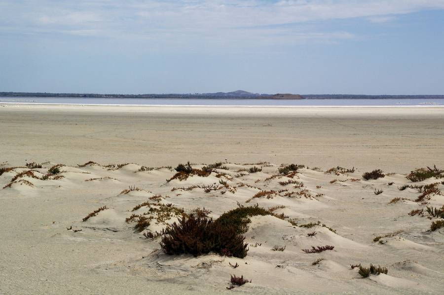 Lake Corangamite with Vaugn Island in the distance